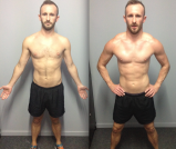 Nigel increased his girth measurements by 5cm over a 9 week period between his chest, bicep and quad measurements
